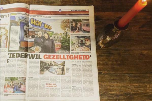 Nationale Foodtruck Dag Telegraaf artikel